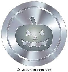 bottone, industriale, halloween, icona