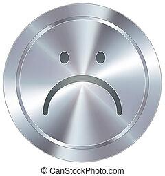 bottone, industriale, infelice, icona