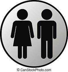 bottone, maschio, femmina