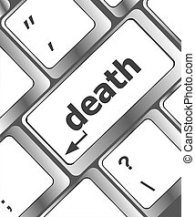 bottone, morte, parola, tastiera