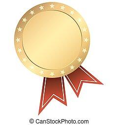 bottone, nastro oro
