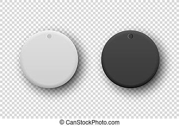 bottone, nero, circolare, closeup., potere, illustrazione,...