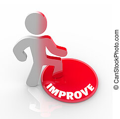 bottone, -, persona, crescita, passi, changes, migliorare