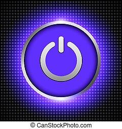 bottone, potere, ibackground