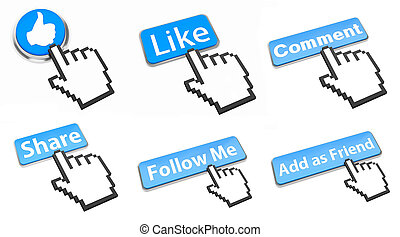 bottone, rete, sociale