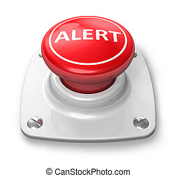 bottone, rosso, allarme