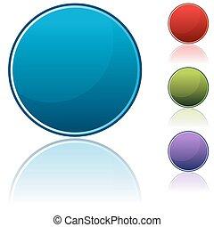 bottone, set, rotondo, icona