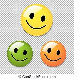 bottone, smiley