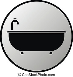 bottone, vasca bagno