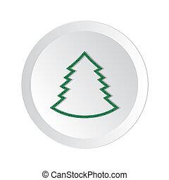bottone, vettore, albero., element), natale, (web