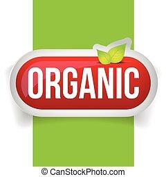 bottone, vettore, organico, foglie
