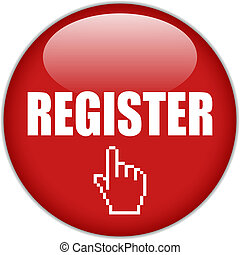 bottone, vettore, registro