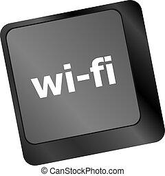 bottone, wi-fi, tastiera computer