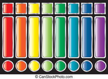 bottoni, arcobaleno, web