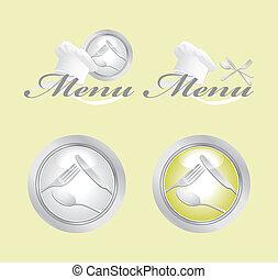 bottoni, menu, icone