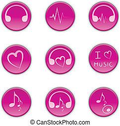bottoni, musica