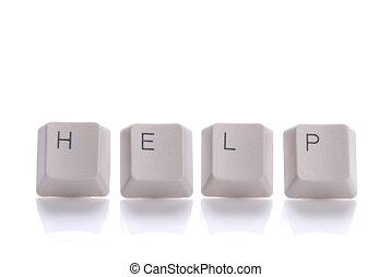 bottoni, scritto, aiuto, tastiera
