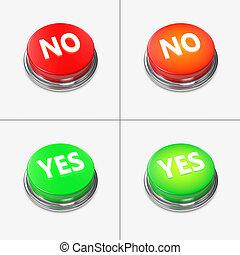 bottoni, verde rosso, allarme