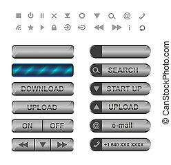 bottoni, web., icone