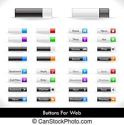bottoni, web, pacco