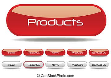 bottoni, web, rosso