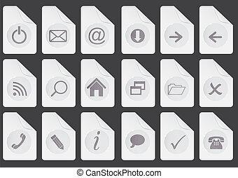 bottoni, web, set, vettore, illustrazione