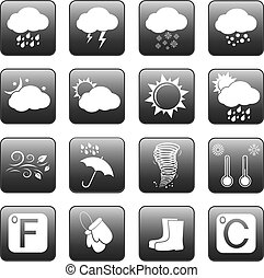 bottoni, web, tempo, icone