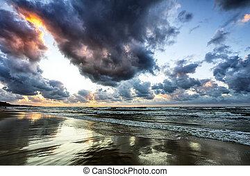 bouřlivý oceán