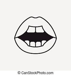 bouche, icône