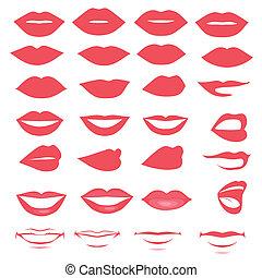 bouche, lèvres