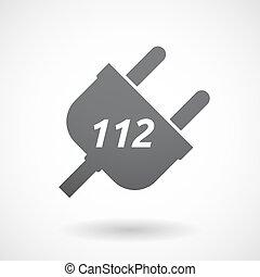 bouchon, texte, isolé, 112