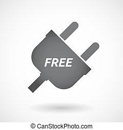 bouchon, texte, isolé, gratuite