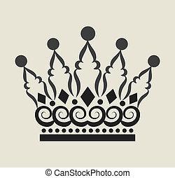 boucle, 2, couronne, décorations