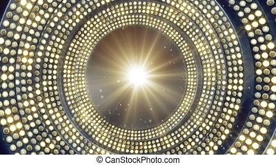 boucle, ampoules, fête, gyrophare
