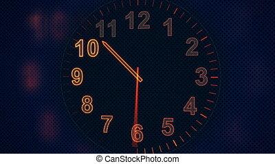 boucle, animation, timelapse, horloge