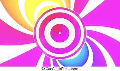 boucle, arrière-plan., résumé, animé, hypnotique
