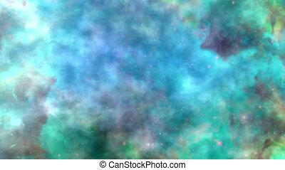 boucle, bleu-vert, calme, tonalités, espace