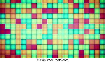 boucle, carrés, multicolore, mosaïque