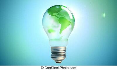 boucle, carte, mondiale, lumière