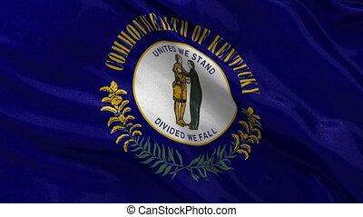 boucle, drapeau, état, kentucky, nous