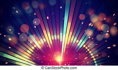 boucle, fond, fête, disco, brillant