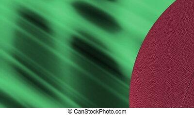 boucle, football, résumé vert