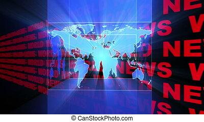 boucle, nouvelles, mondiale, rayons légers