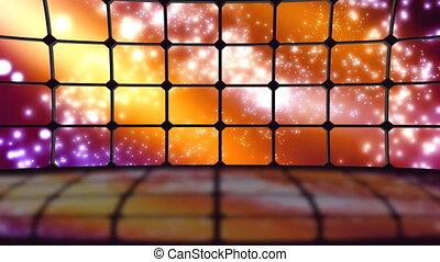 boucle, particules, virtuel, ensemble, cosmique