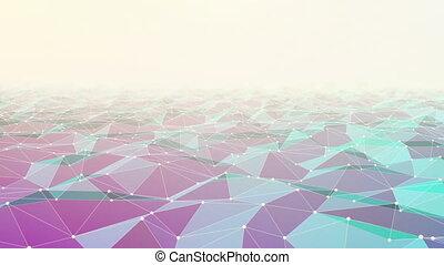 boucle, polygonal, fond