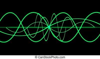 boucle, seamless, lignes, vert, vague