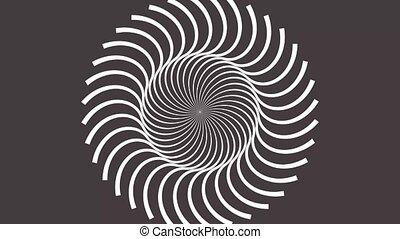 boucle, seamless, mouvement, résumé, fond, parfait, spirale, tourner, hypnotique