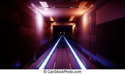 boucle, tunnel, vibe, rendre, 3d, vj, sombre