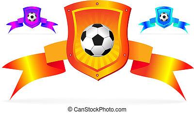 bouclier, football, fond