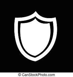 bouclier, illustration, virus, conception, anti, sécurité, icône